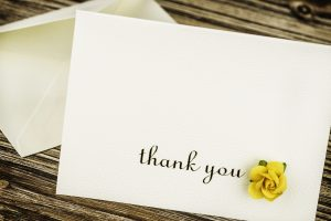 Thank You Card with Rose