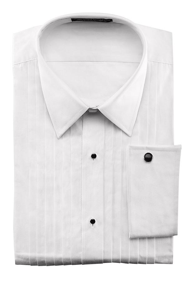 White french cuff tuxedo shirt for men for Tuxedo shirt french cuff