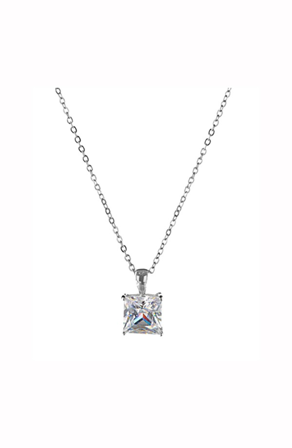 Square CZ Necklace