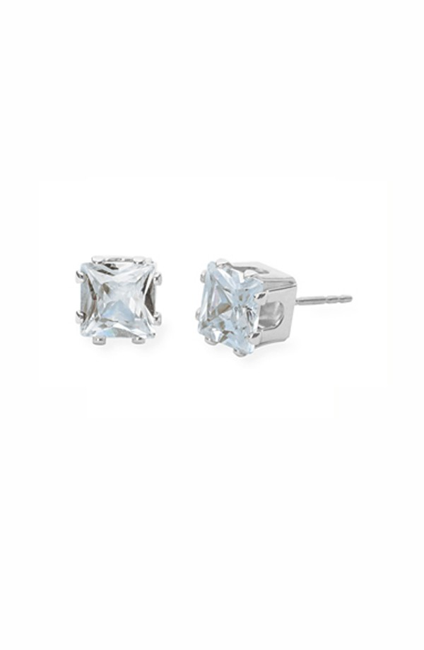 Square CZ Earrings