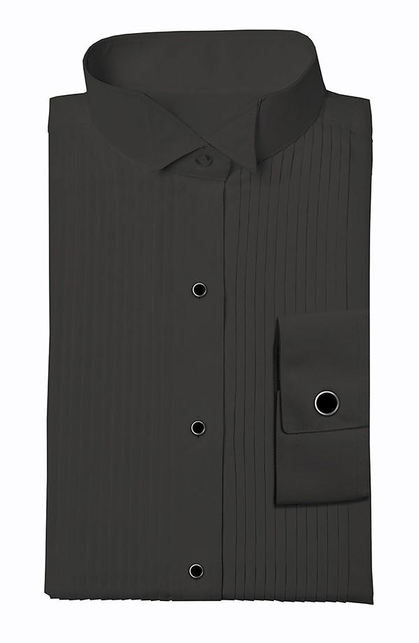 Black Wing Tip Tuxedo Shirt