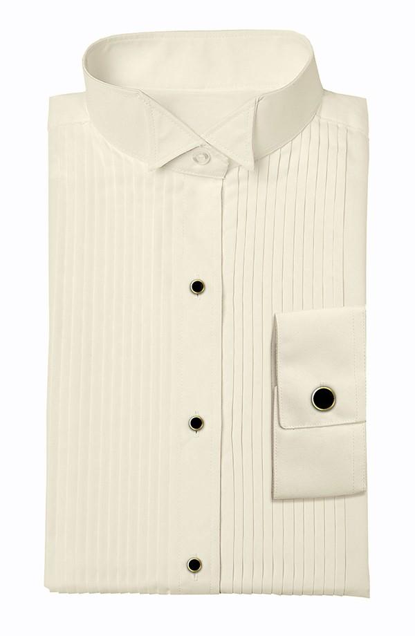 Ivory Wing Tip Tuxedo Shirt
