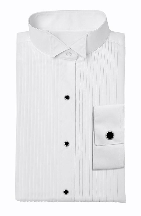 White Wing Tip Tuxedo Shirt