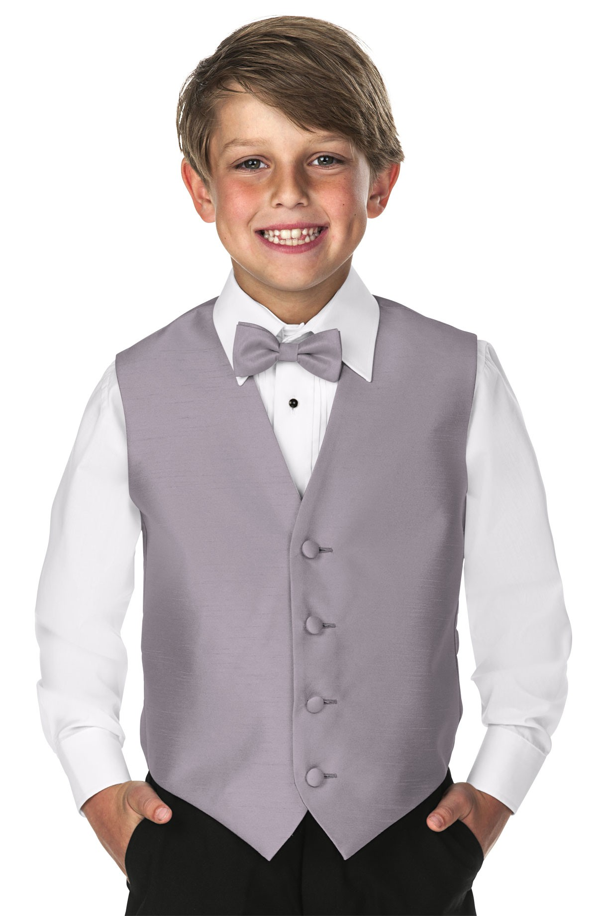 Children's Softened Taffeta 5 Button Vest