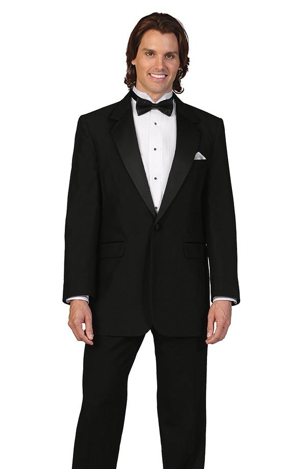 Black Wool Tuxedo Coat
