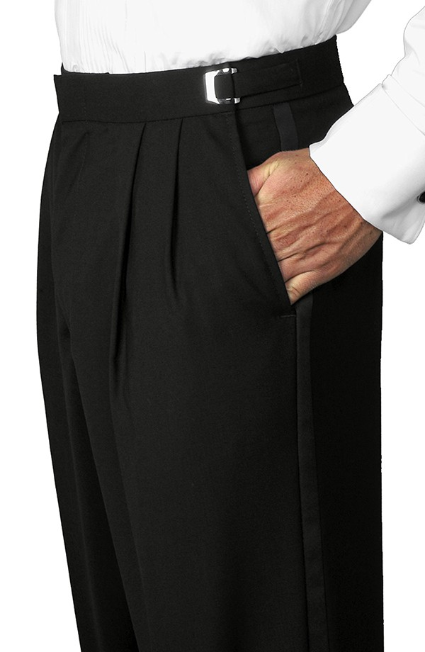 Pleated Tuxedo Trousers