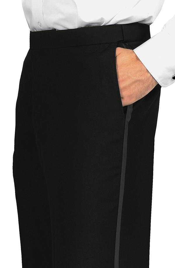 Flat Comfort Fit Tuxedo Trousers