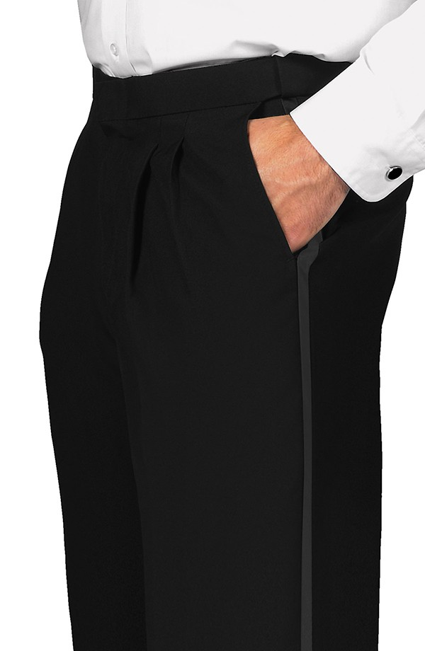 Pleated Comfort Fit Tuxedo Trousers