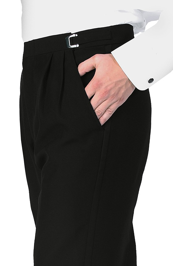Wool Pleated Tuxedo Trousers