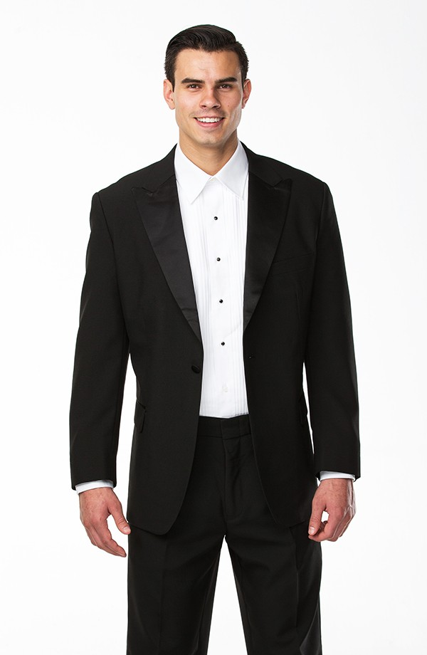 Peak Lapel Poly Tuxedo