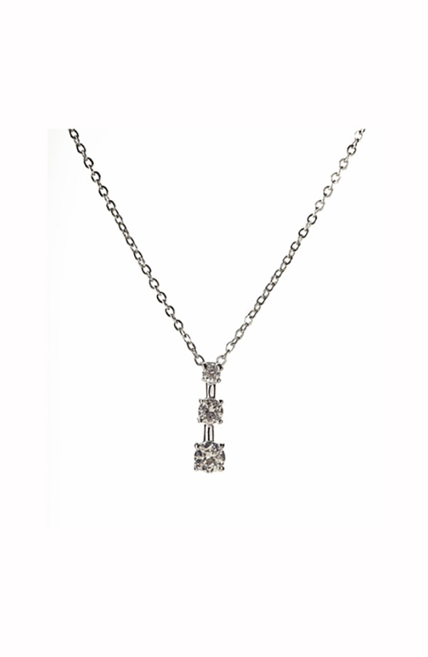Triple Drop CZ Necklace