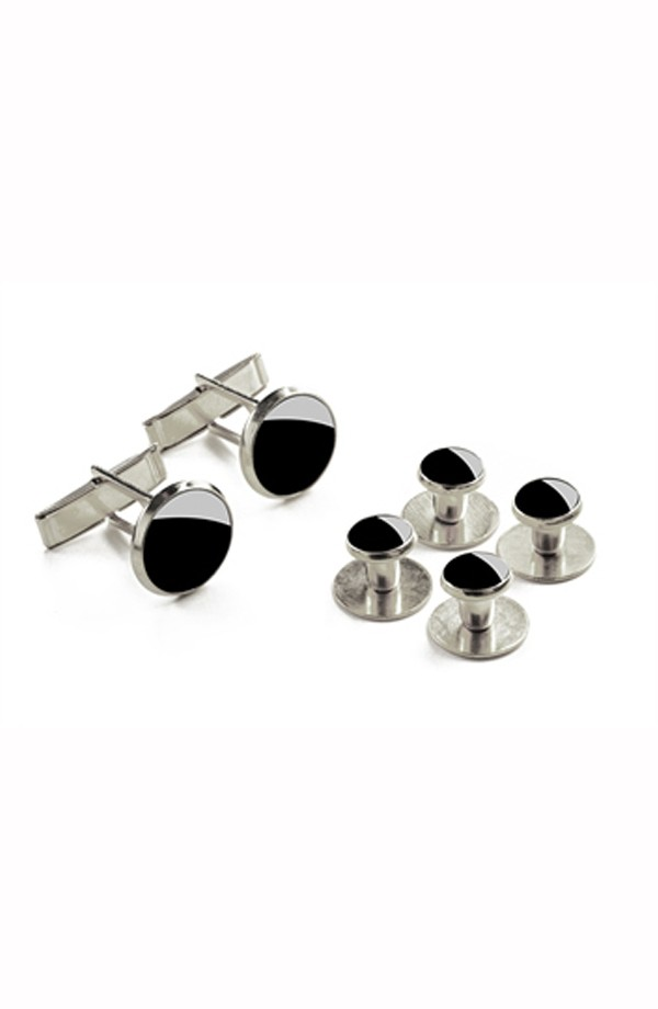 Silver Studs and Cuff Links