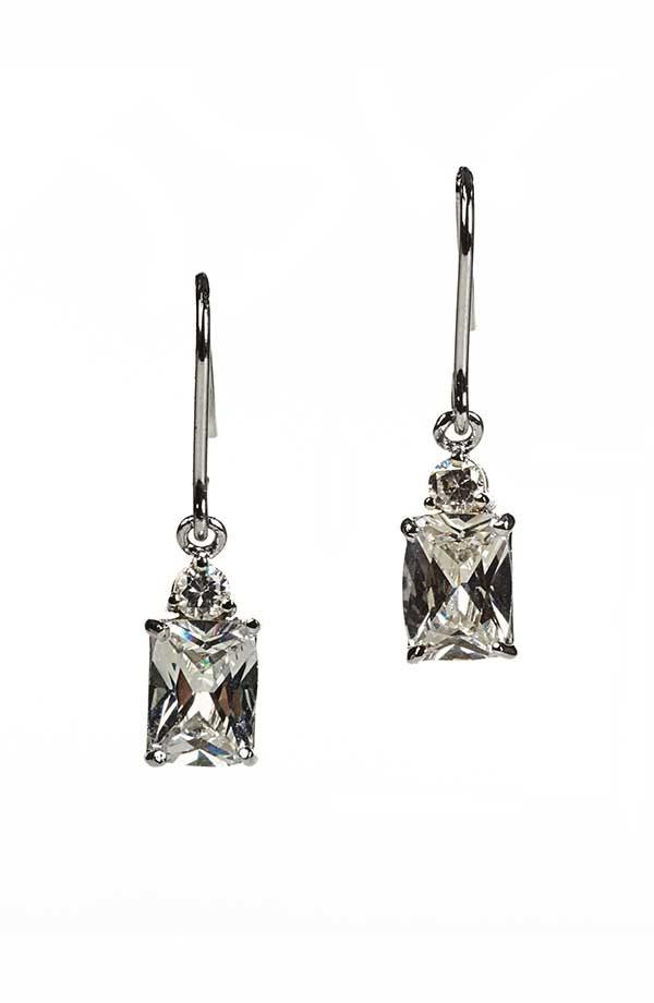 Emerald CZ Drop Earrings