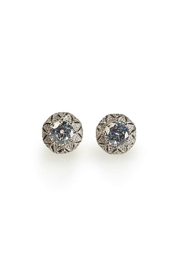 Round Antique CZ  Earrings