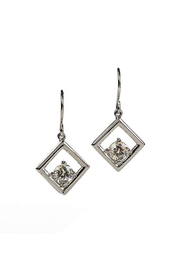 Diamond CZ Drop Earrings