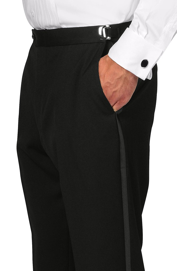 Slim Fit Flat Front Tuxedo Trousers